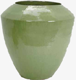 Ceramic Planter in Lime