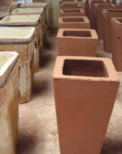 Ceramic Planters in Production